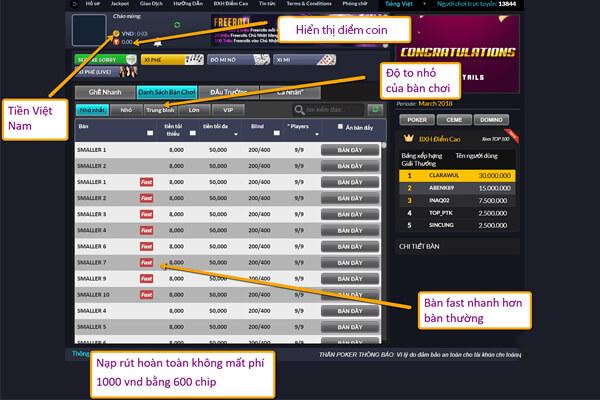 Chơi poker online ăn tiền thật