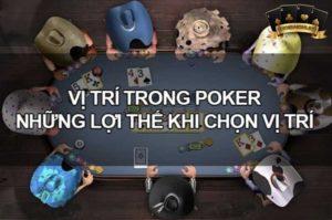 vị trí trong poker